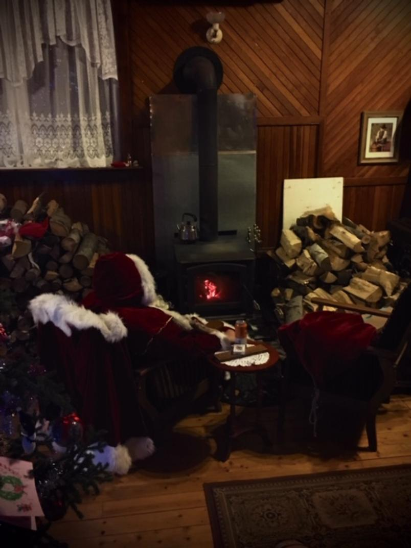 Santa at Highlands Hostel