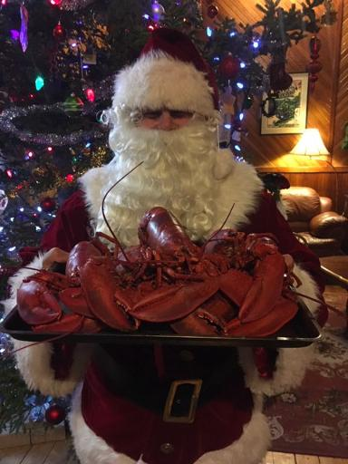 Santa with lobsters