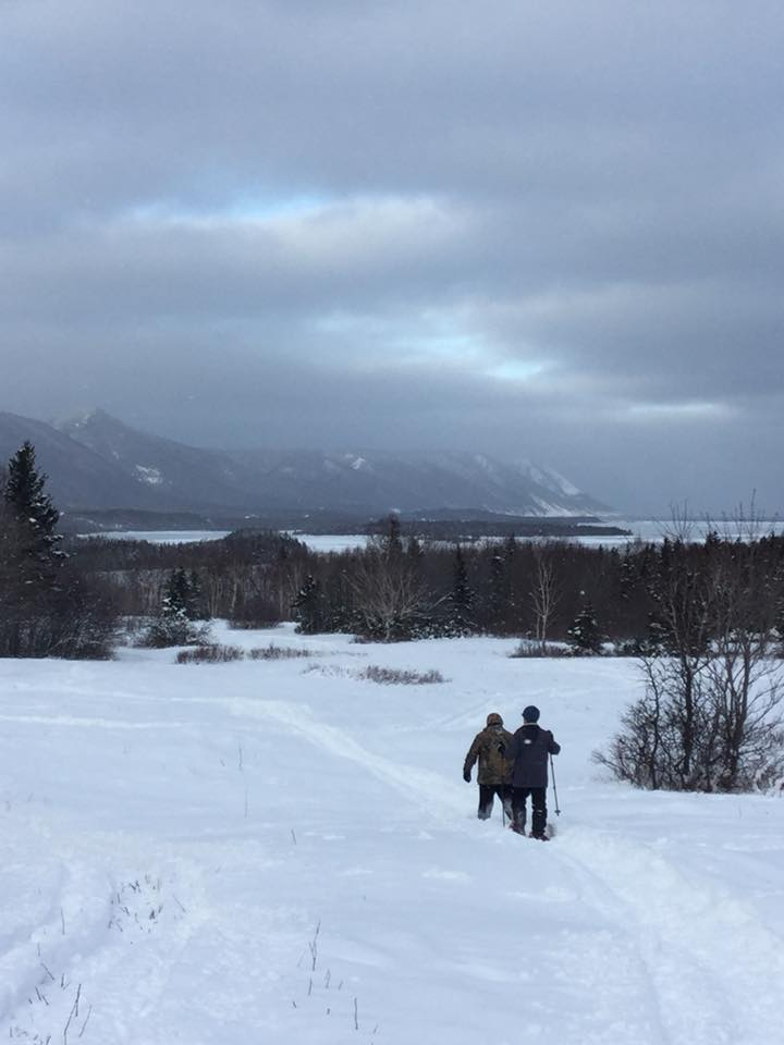 Highlands Hostel snow shoeing